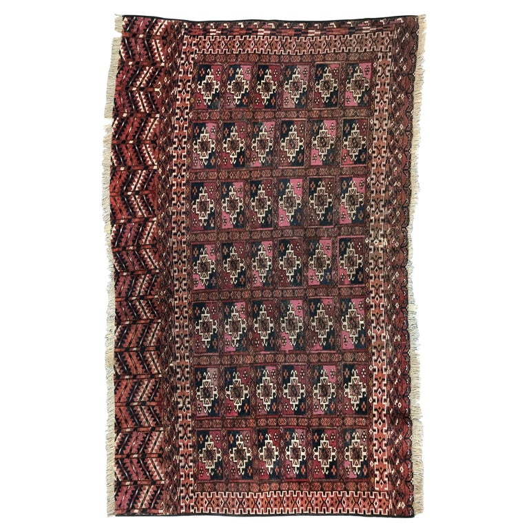Fine Antique Turkmen Chuval Rug For Sale