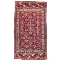 Fine Antique Yomut 'Yomud' Russain Turkemanstan Rug, Bukhara Design, circa 1890