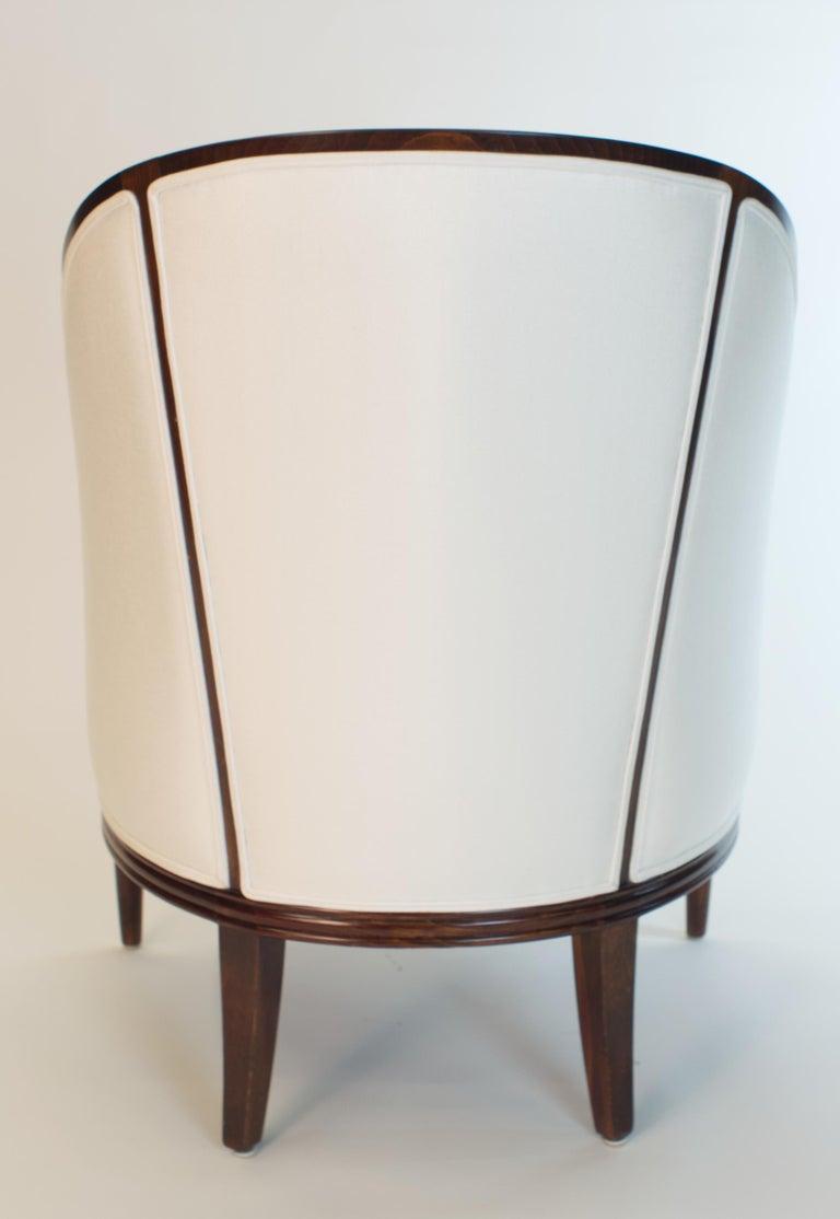 Carved Fine original Art Deco Bergère Armchair by A. Bicchierini For Sale