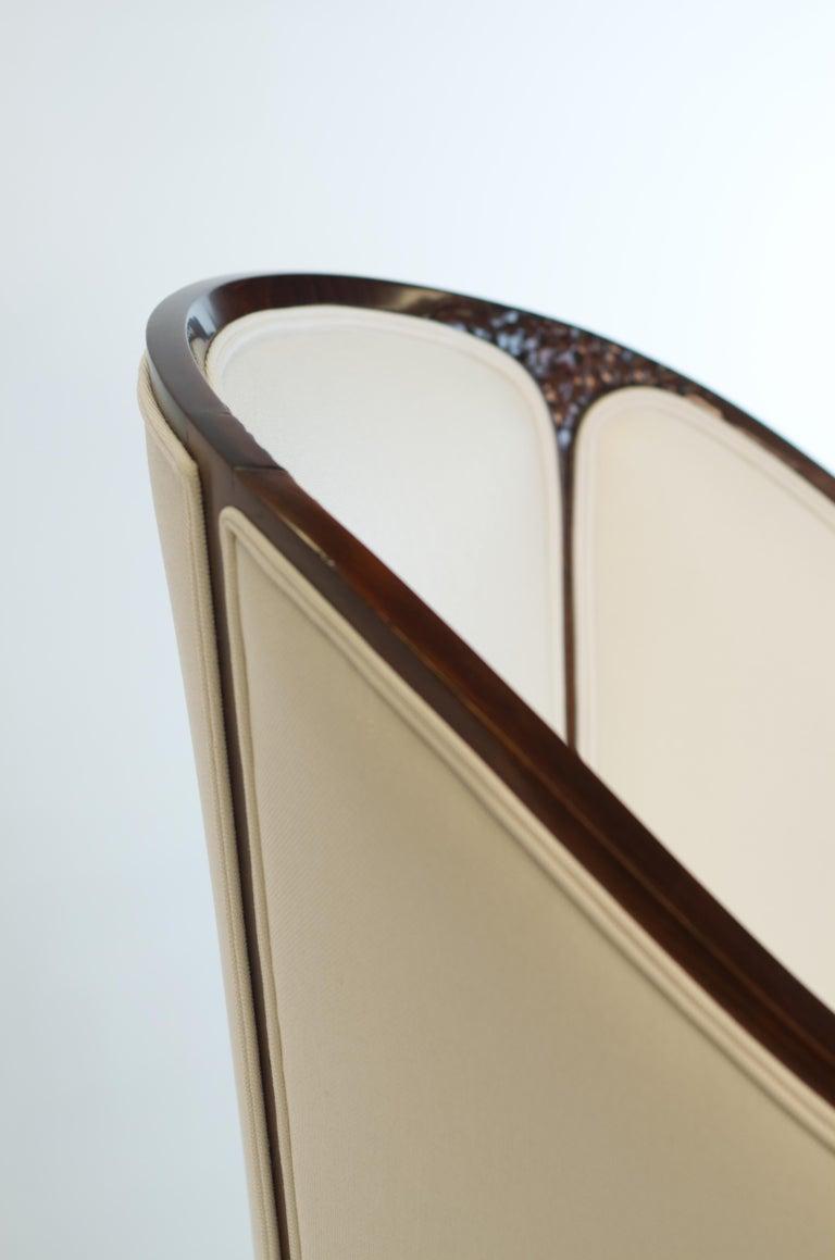 Fine original Art Deco Bergère Armchair by A. Bicchierini For Sale 1