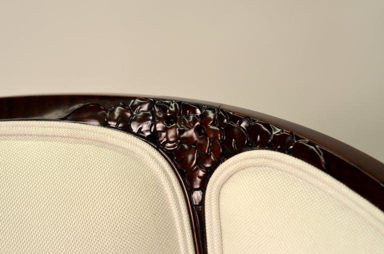 Fine original Art Deco Bergère Armchair by A. Bicchierini For Sale 2