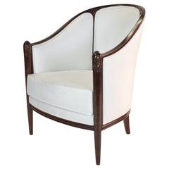 Fine original Art Deco Bergère Armchair by A. Bicchierini