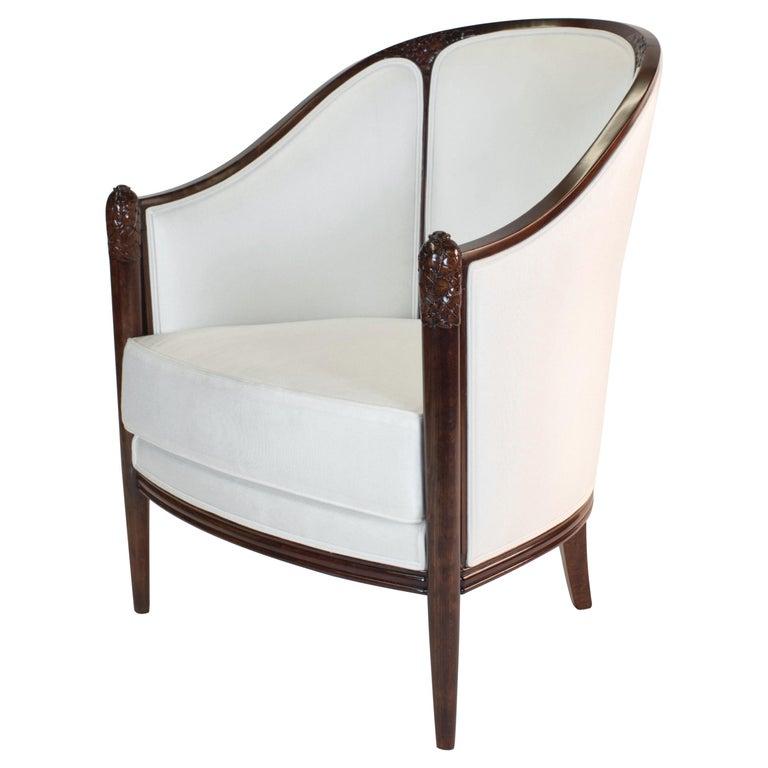 Fine original Art Deco Bergère Armchair by A. Bicchierini For Sale