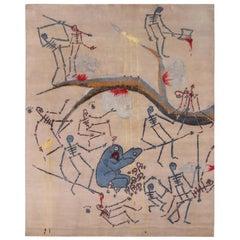 Fine Artist Gianni Lee X Rug & Kilim Modern Pictorial Custom Rug