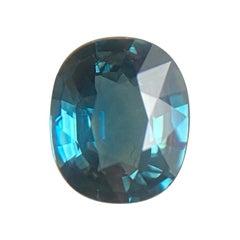 Fine Australia Indigo Blue Sapphire 1.35 Carat Oval Cut Rare Loose Gemstone