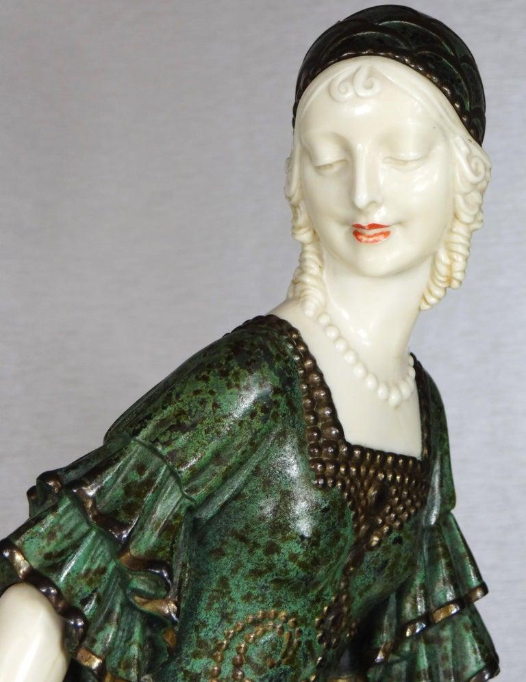 "French Fine Authentic Art Deco Figural Group ""Friends"" by Demetre Chiparus For Sale"