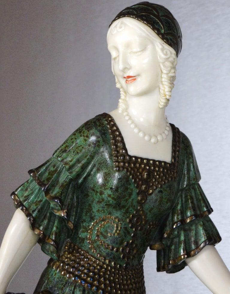 """Fine Authentic Art Deco Figural Group """"Friends"""" by Demetre Chiparus For Sale 1"""