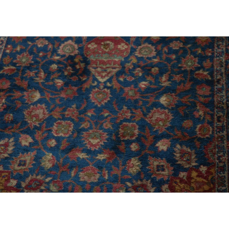 An absolutely stunning Muud rug, Khorassan district, wool on cotton foundation rug, was woven during the 20th century. And years later, the sturdy and rugged knotting in the rug has allowed it to survive in overall great condition, displays a
