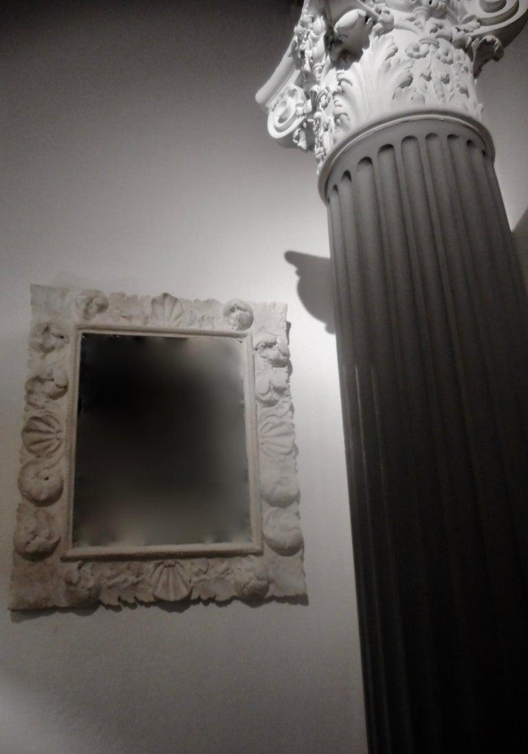 Fine Baroque Plaster Mirror, France 1940 2