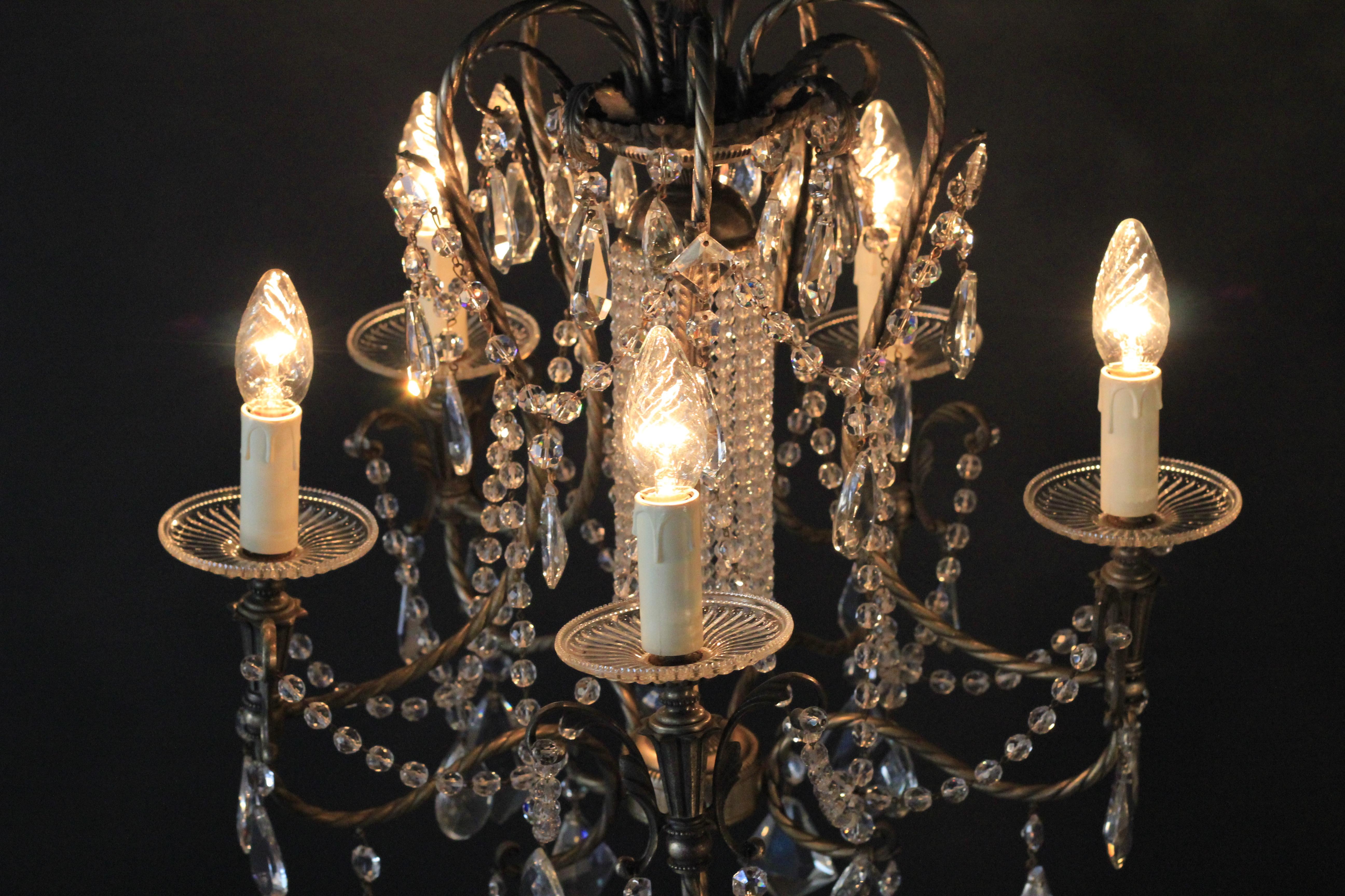 Kronleuchter Kristall Silber ~ Lampe kristall design kronleuchter la ster plafonnier messing