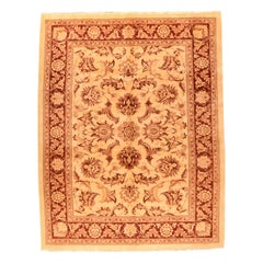 Fine Beige Semi Antique Tabriz Persian Rug, Hand Knotted, circa 1930