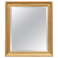 Fine Biedermeier Austrian Lime Wood Mirror