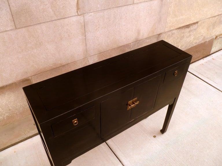 Fine Black Lacquer Console Table 3