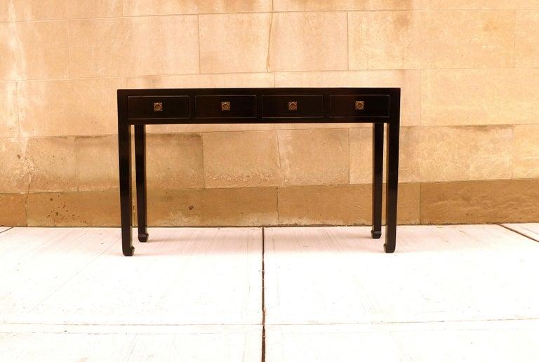 Fine Black Lacquer Console Table 2