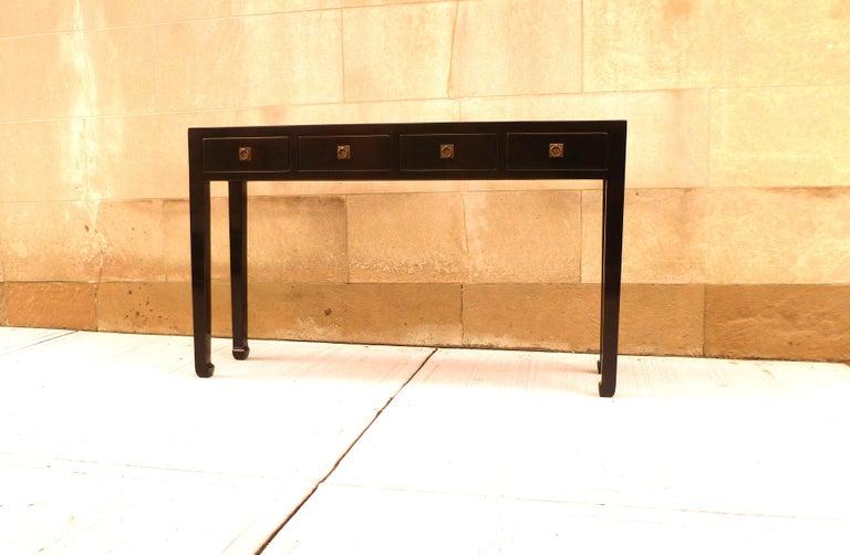 Fine Black Lacquer Console Table 4