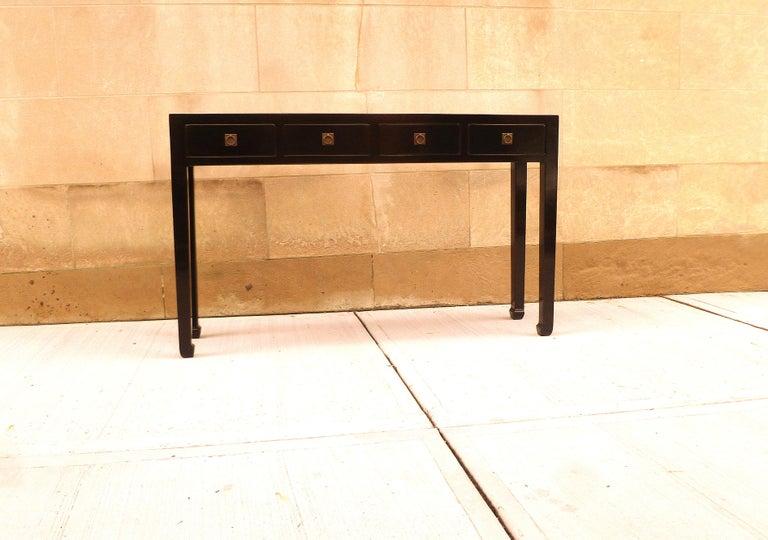 Fine Black Lacquer Console Table 6