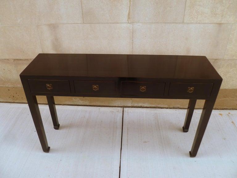 Fine Black Lacquer Console Table 8