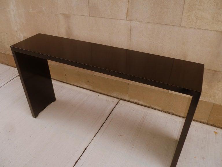 Fine Black Lacquer Console Table For Sale 1