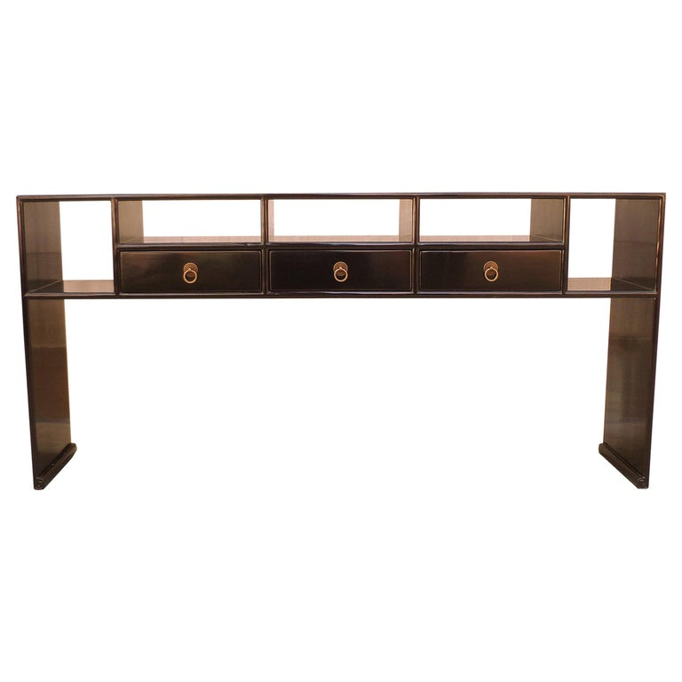 Fine Black Lacquer Console Table For Sale At 1stdibs