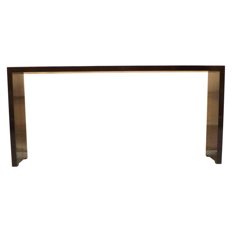 Fine Black Lacquer Console Table For Sale