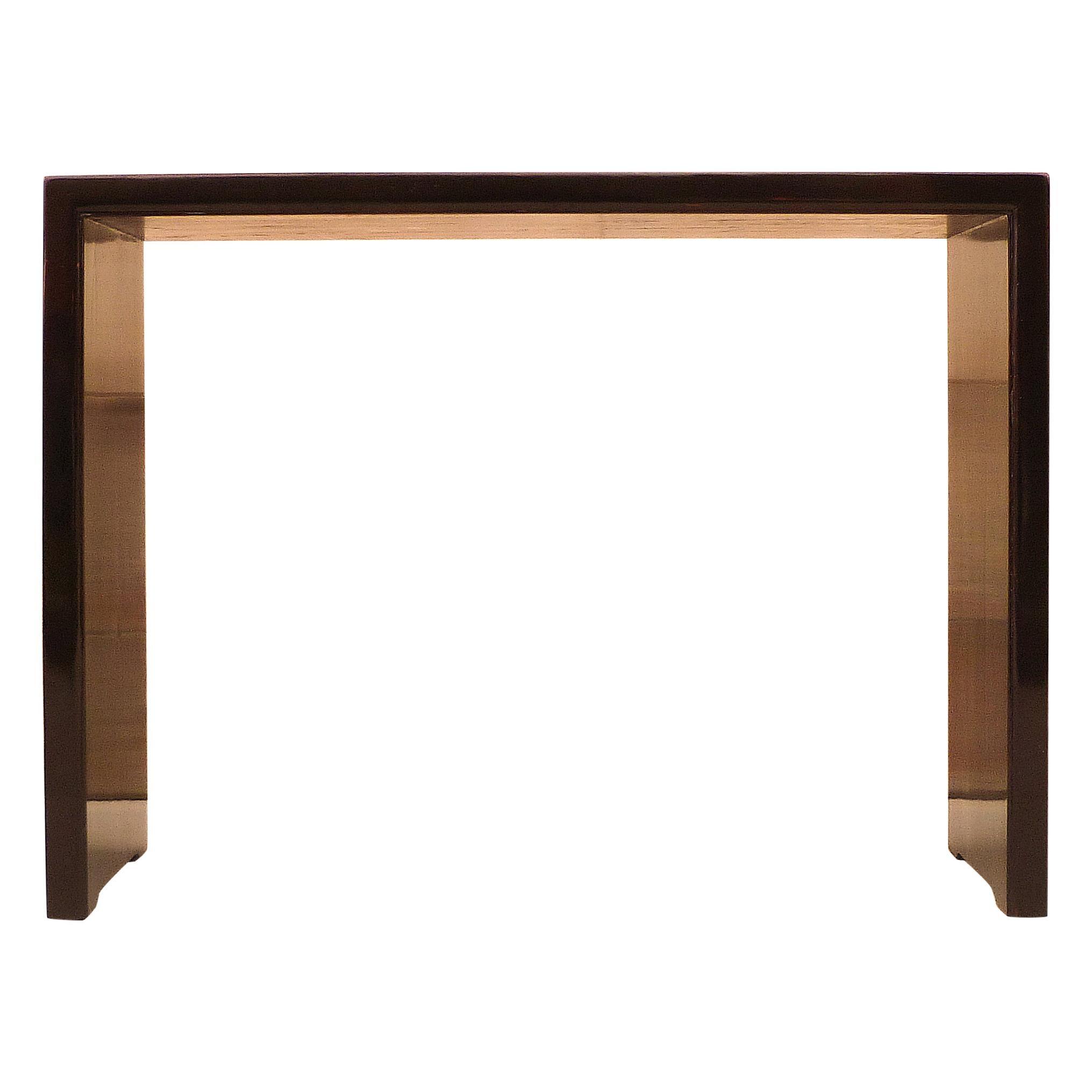 Fine Black Lacquer Console Table