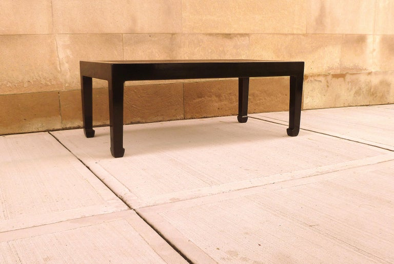 Fine Black Lacquer Low Table with Canned Top For Sale 3