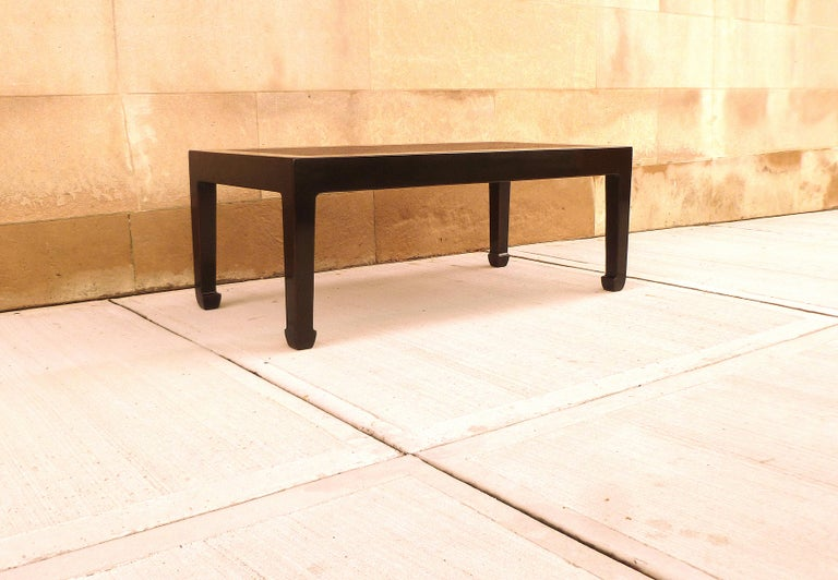 Fine Black Lacquer Low Table with Canned Top For Sale 4