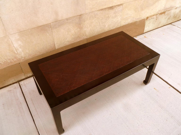Fine Black Lacquer Low Table with Canned Top For Sale 5