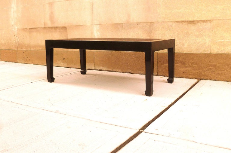 Early 20th Century Fine Black Lacquer Low Table with Canned Top For Sale