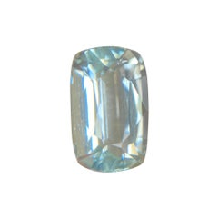 Fine Blue Aquamarine 5.81ct Cushion Cut Top Grade Rare Beryl Gemstone