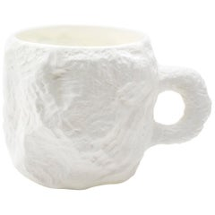 Fine Bone China Mug Slip-Cast Hand Carved Plaster Models