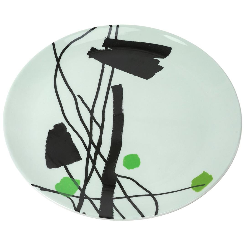 Fine Bone China Plate with Unique Silk-Screen Decals, Plate 5