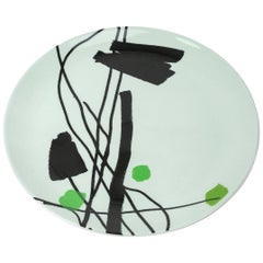 Fine Bone China Plate with Unique Silk-Screen Decals, Plate 5