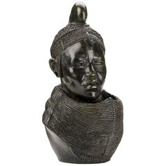 Fine Bronze Bust of a Masai Woman by Philip Reeves 'b. 1958'