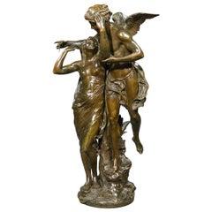 """Fine Bronze Figures Entitled """"Reveil de La Nature"""" by E. Picault"""