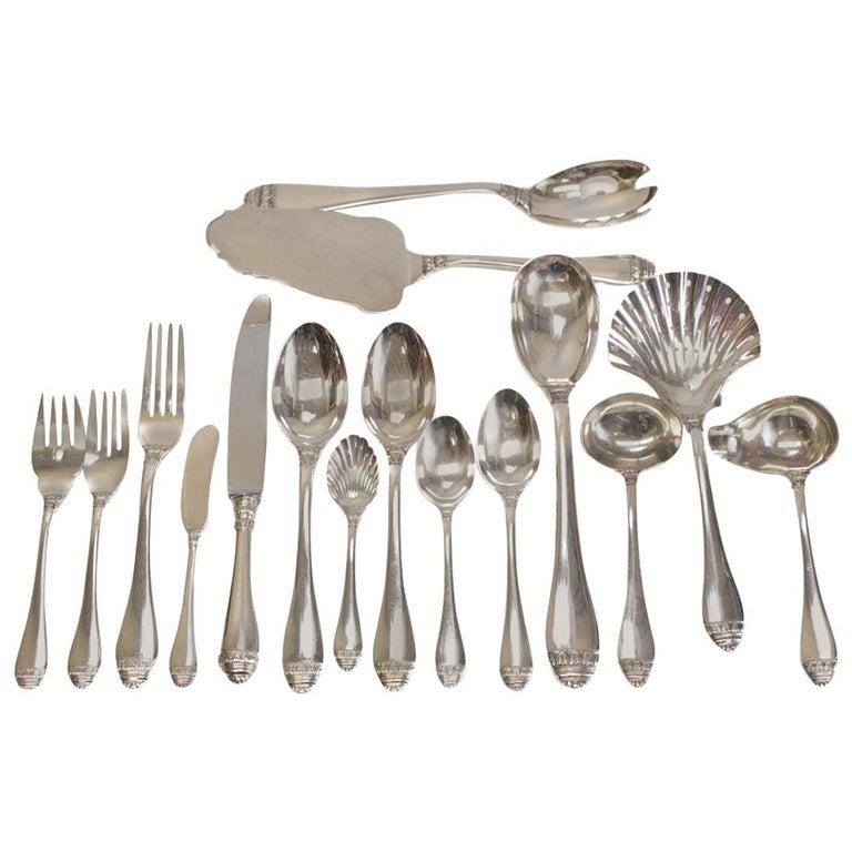 4dd9774e475ed Fine Buccellati Sterling Silver 7-Piece Service for 12 Flatware in French  Empire For Sale