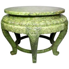 A Fine Chinese Imperial 20th Century Carved Jadeite 'Jade' Center Table