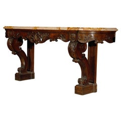 Fine carved wood console