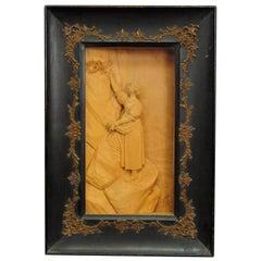 Fine Carved Wood Diorama 1900 by S. Steiner