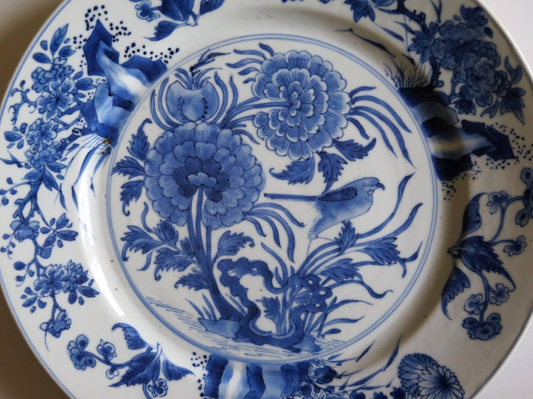 Fine Chinese Porcelain Blue and White Plate, Kangxi Period and Mark Circa 1700 For Sale 4