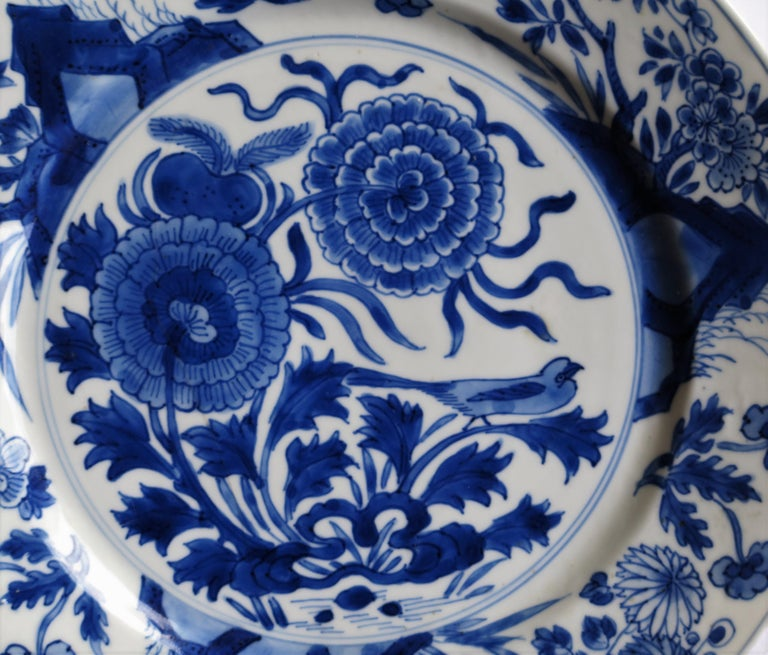 Fine Chinese Porcelain Blue and White Plate, Kangxi Period & Mark, circa 1700 For Sale 4