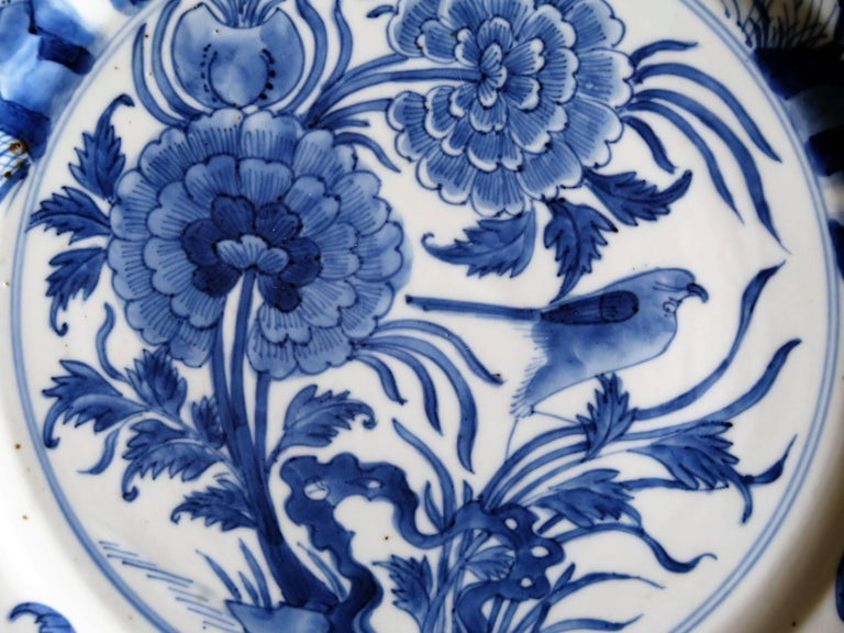 Fine Chinese Porcelain Blue and White Plate, Kangxi Period and Mark Circa 1700 For Sale 5