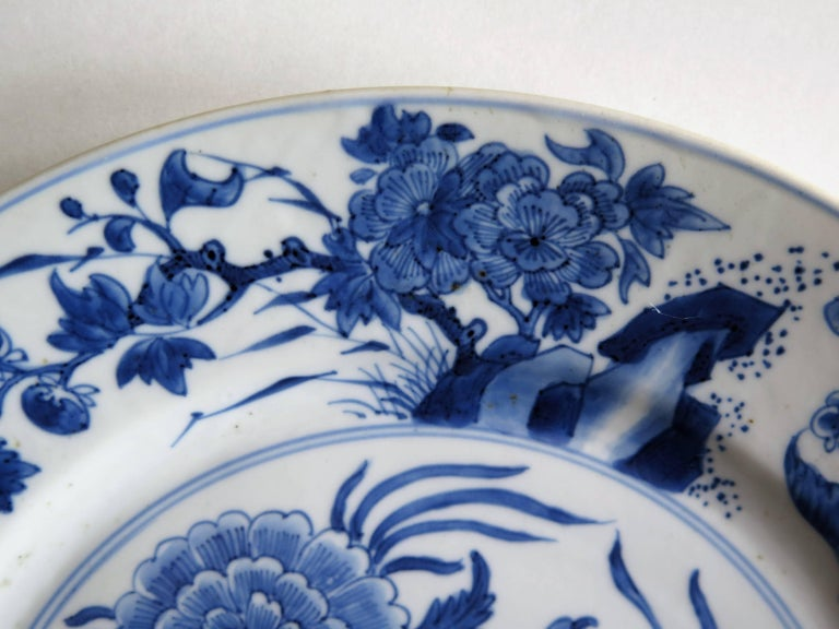 Fine Chinese Porcelain Blue and White Plate, Kangxi Period and Mark Circa 1700 For Sale 7