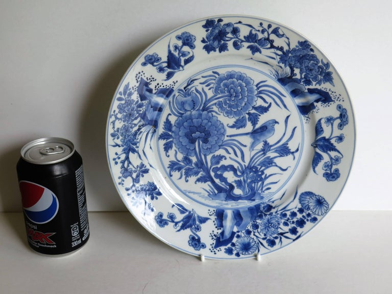Fine Chinese Porcelain Blue and White Plate, Kangxi Period and Mark Circa 1700 For Sale 9
