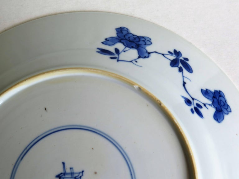 Fine Chinese Porcelain Blue and White Plate, Kangxi Period and Mark Circa 1700 For Sale 13