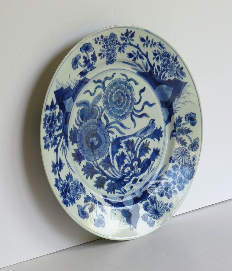 Fine Chinese Porcelain Blue and White Plate, Kangxi Period & Mark, circa 1700 In Good Condition For Sale In Lincoln, Lincolnshire