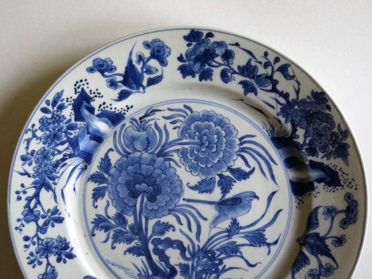 Fine Chinese Porcelain Blue and White Plate, Kangxi Period and Mark Circa 1700 For Sale 1