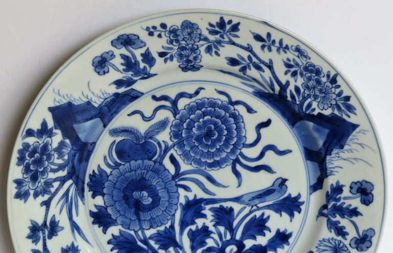 Fine Chinese Porcelain Blue and White Plate, Kangxi Period & Mark, circa 1700 For Sale 1