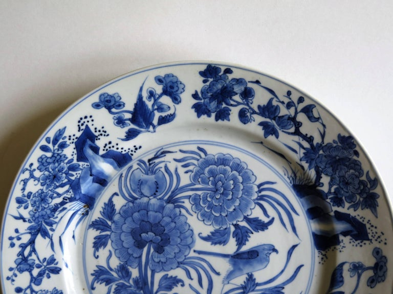 Fine Chinese Porcelain Blue and White Plate, Kangxi Period and Mark Circa 1700 For Sale 2