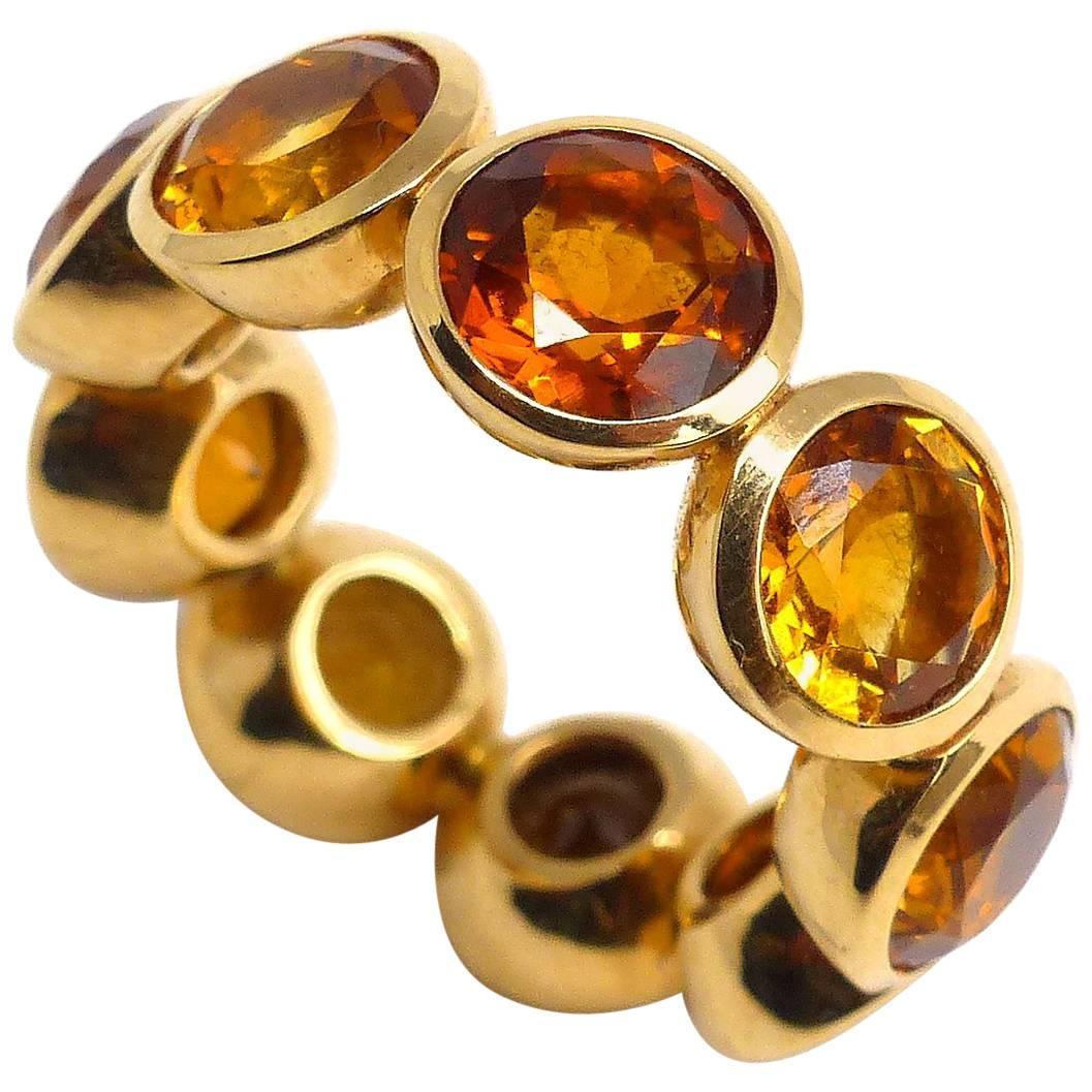 Leyser 18k Rose Gold Citrine Ring